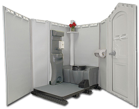 Portable Toilets With Sinks Running Water And Electricity